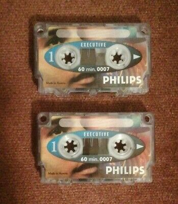 £8.95 • Buy 2x PHILIPS 0007 Dictation Machine Tapes With Longer 60 Mins. Recording/Playback.