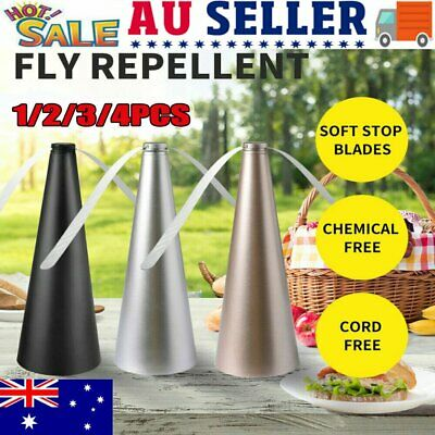 AU19.82 • Buy 1~4x Automatic Fly Trap Fly Repellent Fan Keep Flies Bugs Food From Away Fruit~T