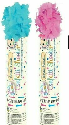 £5.99 • Buy New Baby Shower Gender Reveal Confetti Shooter Cannon Pink Blue Popper Party