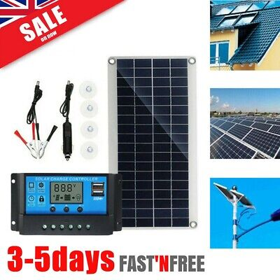 £22.39 • Buy 30W 12V Dual USB Flexible Solar Panel Battery Charger Kit Boat Car W/ Controller