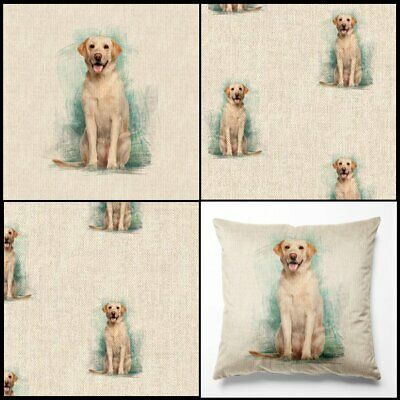 £3.99 • Buy Labrador Linen Look Cotton Rich Fabric - By The Metre & Panels - For Home Decor