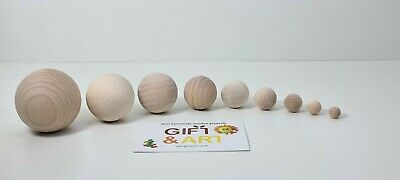 £2.49 • Buy Natural Round Wooden Craft Balls Beads WITH NO HOLE 10,12,16,20,25,30,35,40,50mm
