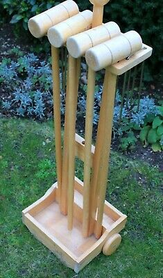VINTAGE 1960s CROQUET SET WITH TROLLEY CART  - COLLECTABLE / DECOR - INCOMPLETE  • 70£