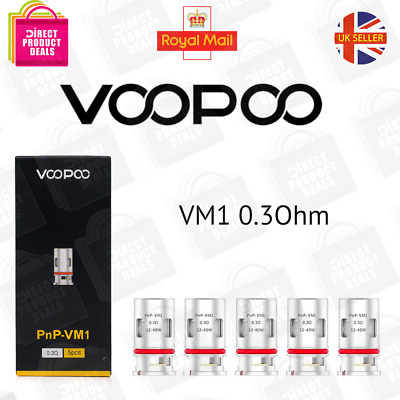 Voopoo Pnp Coils Vm1 0.3 Ohm Authentic Single Coil Or Pack Of 5  • 9.75£