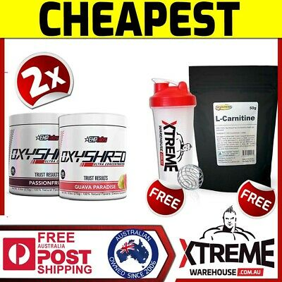 AU119.90 • Buy 2x Oxyshred By Ehplabs 60 Srv // Thermogenic Fat Burning Weight Loss Twin Pack*