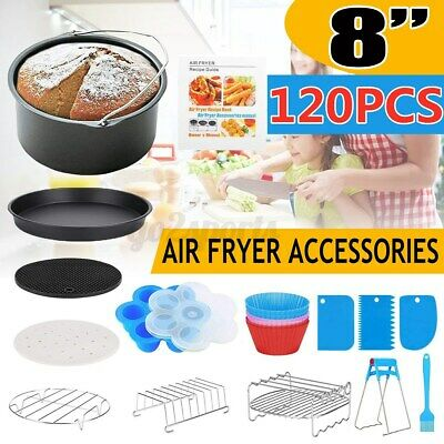 AU31.89 • Buy 118~127x 8 Inch Air Fryer Accessories Frying Pan Cake Oven Pizza Tray BBQ Rack
