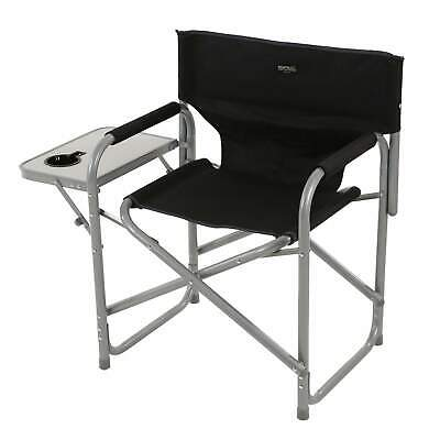 £35 • Buy Regatta Director's Chair With Side Table Black Seal Grey