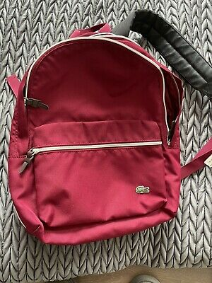 £30 • Buy Red Lacoste Rucksack - Used But Excellent Condition