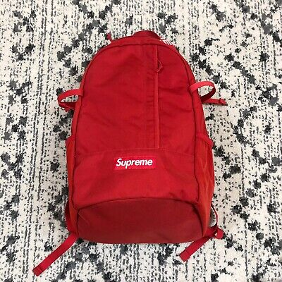 $ CDN375.35 • Buy Supreme SS18 Red Backpack Spellout  Box Logo Bag Red Padded Pockets Authentic