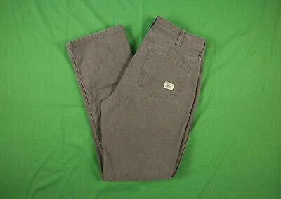 $34.99 • Buy Eddie Bauer Fleece Lined Pants 36x34 Gray Straight Fit Specially Dyed