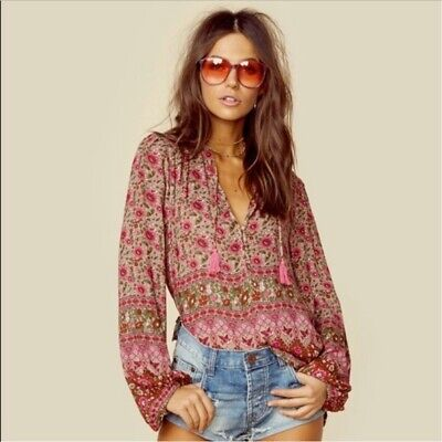 AU324.49 • Buy Spell And The Gypsy Kombi Spice Blouse Size Medium