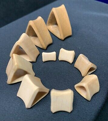 $6.50 • Buy Triangle Concave Tunnel Blonde Wood Ear Gauge Pair