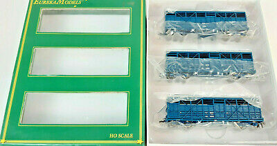 AU21.50 • Buy Eureka Nswgr Bcw Cattle Wagons Ptc Blue 3-pack (#4) Excellent Boxed Ho(ux)