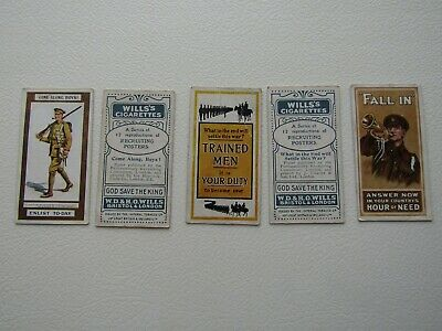£2.99 • Buy Wills Cigarette Cards 1915 Recruiting Posters Card Variants (e28)