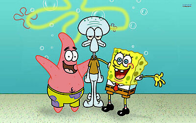 £3.99 • Buy SPONGEBOB ANIMATED CHILDREN SERIES TV SHOW Print Poster Wall Art Picture A4 +
