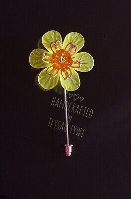 £4.99 • Buy Double Daffodil Flower Pin Brooch..Silvertone Safety End.