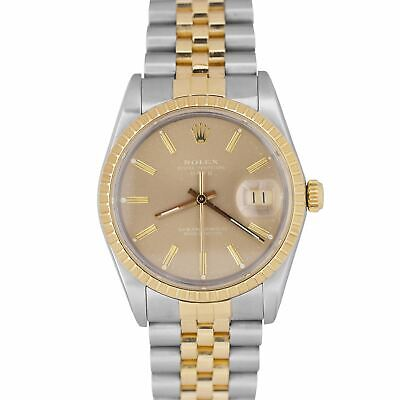 $ CDN5815.53 • Buy Vintage 1987 Rolex Date 34mm Champagne 15053 Two-Tone Stainless Watch DateJust
