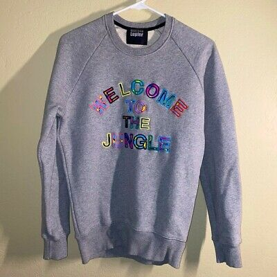 $ CDN157.34 • Buy Markus Lupfer  Welcome To The Jungle   Embroidered Sweatshirt Grey Women's XS