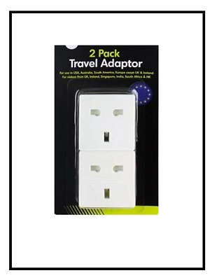 AU5.85 • Buy Travel Adaptor Plugs 2 Pack - USA, Australia, South America & Europe Use
