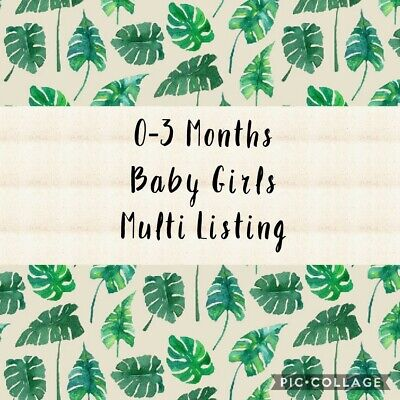 £1 • Buy 0-3 Months Girls Clothing (Huge Selection Make Your Own Bundle) Cheap Postage!