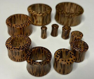 $5.75 • Buy Pair Of Coconut Wood Ear Gauges Subtly Concaved Tunnel Plug