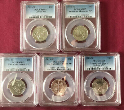 $ CDN272.06 • Buy 2019 W Quarters - Full Set In Beautiful PCGS MS-65 Condition!!!