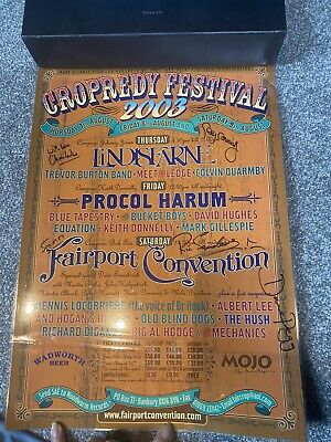 £20 • Buy Fairport Convention Poster Signed Cropredy Festival 2003
