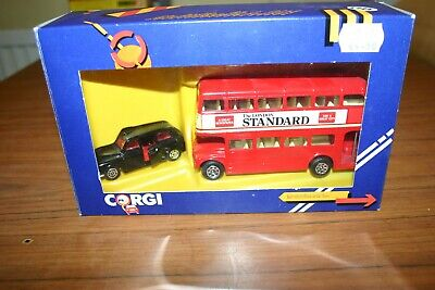 $ CDN5.17 • Buy Corgi 1365 London Bus And Taxi London Standard, Double Decker, Original Box 1984