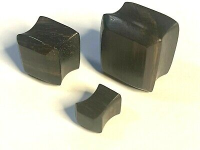 $7 • Buy Pair Of Solid Square Dark Wood Ear Plugs ( 2 To 7/8  Gauge Available )
