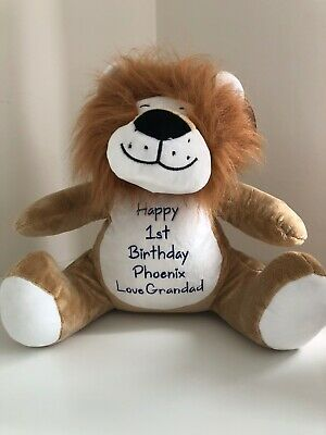 £22 • Buy Mumbles Zippie Lion Personalised & Embroidered Soft Cuddly Toy Teddy Bear