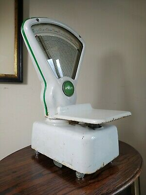Vintage 1950s Avery Sweet Shop Scales Kitchen Mancave Shop Prop White Green • 155£