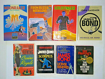 $22 • Buy 8 Books - James Bond 007  Ian Fleming Goldfinger Moonraker Casino Royal  Gardner