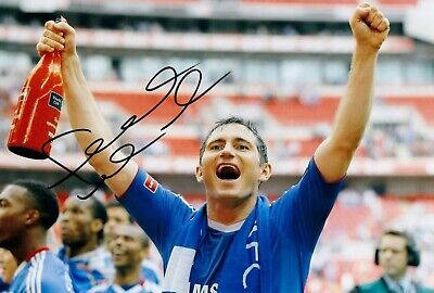 £49.99 • Buy FRANK LAMPARD CHELSEA HAND SIGNED PHOTO AUTHENTIC + COA - 12x8