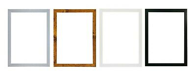 £5.29 • Buy  A2 A3 A4 A5 20mm Black Photo Frame White Picture Frame  Poster Frames Walnut
