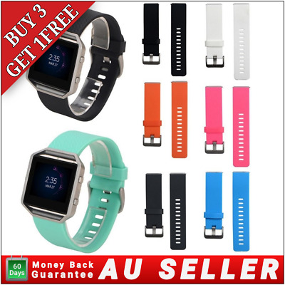 AU5.50 • Buy For FITBIT BLAZE Replacement Silicone Gel Band Strap Bracelet Wristband Sport