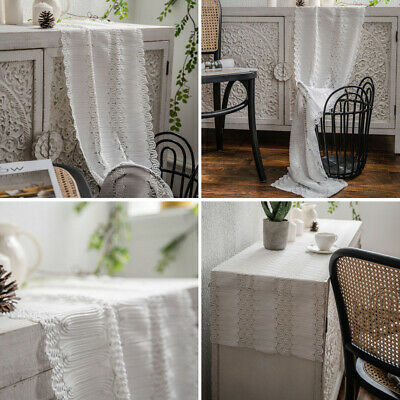 AU21.68 • Buy Rectangle Lace Table Runner Tablecloth Cover Dining Party Kitchen Table Decor