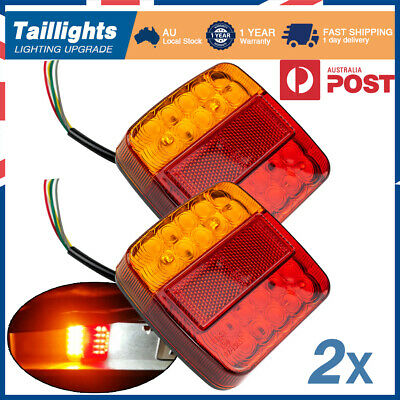 AU21.99 • Buy 2x Led Trailer Lights Light Square Tail Stop Indicator Truck Lamp Upgrade Kit