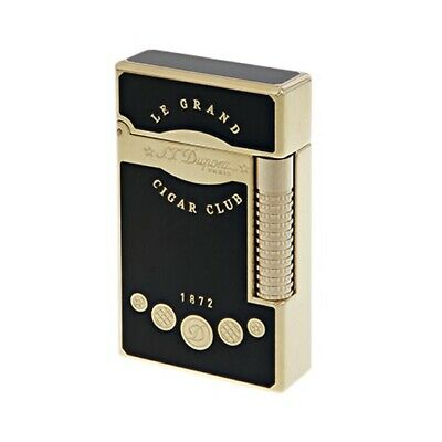 AU1659.42 • Buy St Dupont S.T. Lighter Ligne 2 Le Grand Cigar Club Yellow Gold And Black 023112
