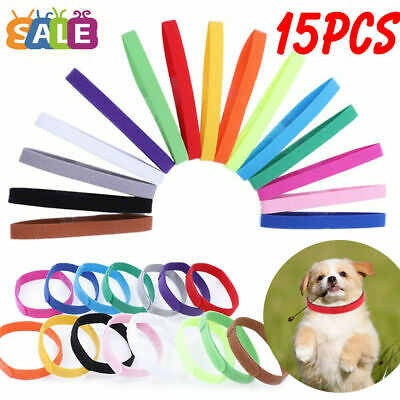 £3.79 • Buy Puppy Collars Welping ID Bands Newborn Dog Kitten Pet Tags 15 Colors Adjustable