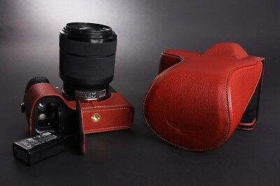$ CDN115.79 • Buy Real Leather Full Camera Case Bag Cover For Sony A7 II A7R A7S M2 Mark II Open