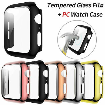 $ CDN6.82 • Buy I WATCH SCREEN PROTECTOR HARD CASE COVER FOR APPLE WATCH SERIES 4 5 40mm BLACK