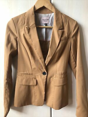 £10 • Buy Bershka Camel Fitted Blazer Size XS Great Condition!