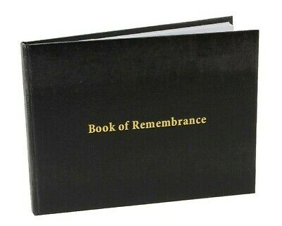 £8.99 • Buy Book Of Remembrance In Loving Memory Funeral Guest Book Black
