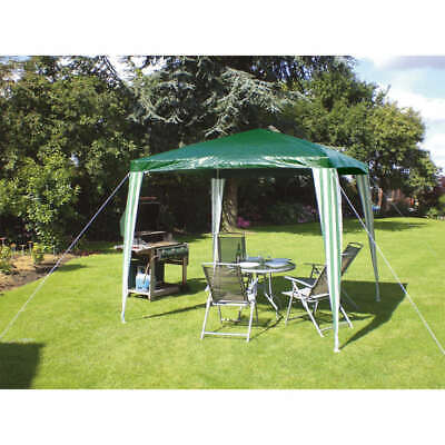 2.35m  X 2.35m Large Green Gazebo Outdoor Camping Garden Waterproof Tent • 42.50£
