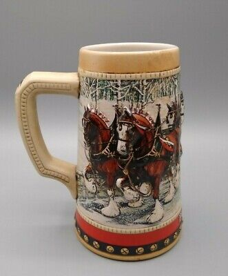 $ CDN9.28 • Buy Vintage 1988 Budweiser Holiday Beer Stein Mug Collectors Series. Father's Day