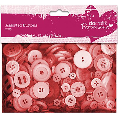 £4.95 • Buy Papermania 250 G Assorted Button Pack, Red