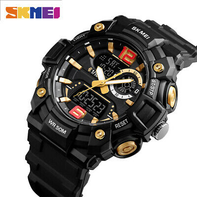 $ CDN15.80 • Buy SKMEI Men Digital Watch Fashion Dual Display Sport Watches 50m Waterproof 1529