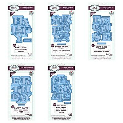 £13.20 • Buy CREATIVE EXPRESSIONS - Sue Wilson - Big Bold Words Collection - Die & Stamp Sets
