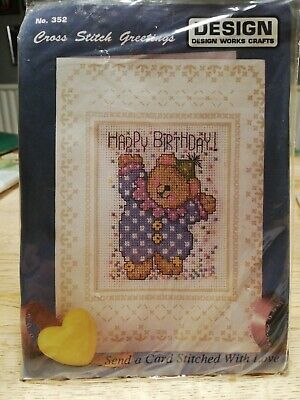 £4 • Buy Counted Cross Stitch Card Kits  Happy Birthday