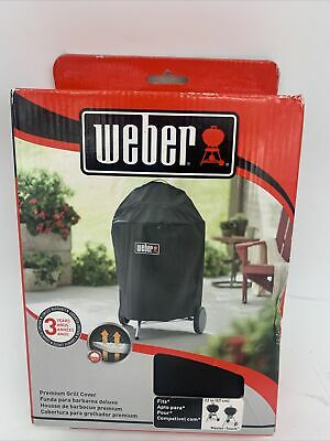 $ CDN36.38 • Buy Weber Premium Grill Cover With Storage Bag 7150 Fits 22  Charcoal Grill Black